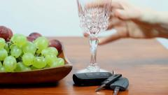 Drunk driving. Don't Drink And Drive. Red wine. Stock Footage