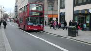 Stock Video Footage of london bus passing by