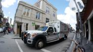 Stock Video Footage of French Quarter Ambulance 4077