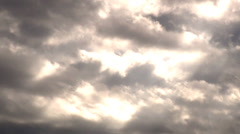 Dark clouds with sunlight Stock Footage