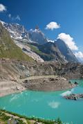Miage lake - vertical composition Stock Photos