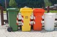 Stock Photo of trash bins