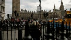 Parliament square and westminster Stock Footage