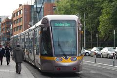 Streetcar, dublin Stock Photos
