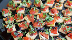 Catering bites - stock footage