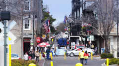 New Orleans French Quarter Tourists Activity 4070 Stock Footage