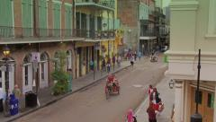 Looking Down at a Street in the French Quarter 4078 Stock Footage