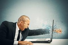 Stress and frustration Stock Photos