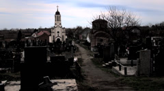 Old orthodox cemetery Stock Footage