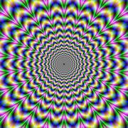 Crinkle Cut Psychedelic Pulse Alternative Color Stock Illustration