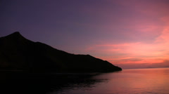 Sunrise in Komodo marine park - stock footage