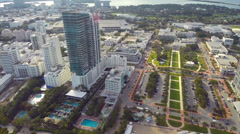 Static video of the Setai Condominium Miami Stock Footage