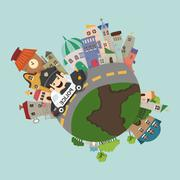 globe concept - stock illustration
