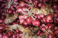 Stock Photo of shallot red onion