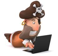 Pirate man - stock illustration