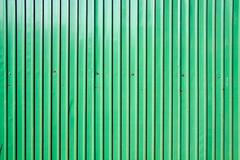 Green zinc wall Stock Photos