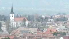 Esztergom Hungary 15 winter Stock Footage
