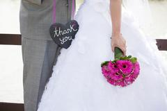 Wedding thank-you Stock Photos