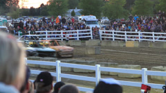 Figure 8 Demolition Derby Stock Footage