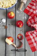 making pie - stock photo