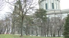 Esztergom Hungary Basilica 12 winter Stock Footage