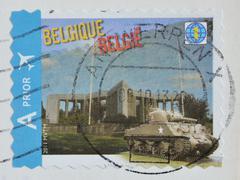 Belgium postage stamp, circa 2011 Stock Photos