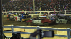 Demolition Derby 2 of 5 Stock Footage