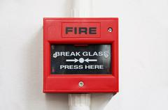 Fire alarm box Stock Photos