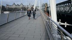 London hungerford bridge Stock Footage