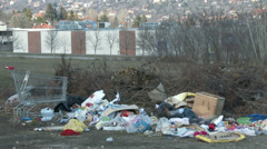 Illegal Thrash Piles 1 Stock Footage