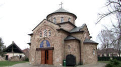 Small rural church in Karadjordjevu Stock Footage