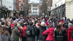 Crowd with tourist at covent garden london Stock Footage
