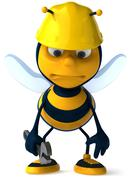 Bee (insect) Stock Illustration