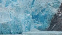 Stock Video Footage of Calving glacier