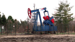 Oil pump jack Stock Footage