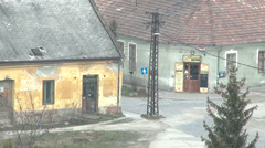 Old Rural Town in Hungary 1 Stock Footage