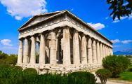 Stock Photo of Ancient Agora at Athens, Greece