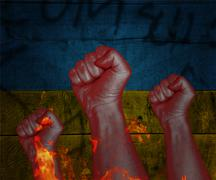 Revolution in ukraine Stock Illustration