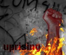 protest uprising - stock illustration
