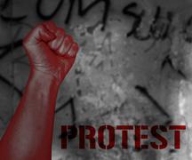 street protest - stock illustration