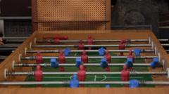 Foosball vintage table game Stock Footage
