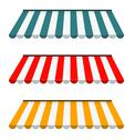 Stock Illustration of eps vector 10 - colorful set of striped awnings