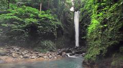 216 Casaroro Falls, waterfall in jungle, Negros Oriental, Philippines. - stock footage