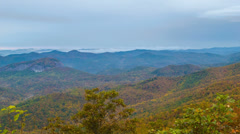 Autumn Color Pan Over the North Carolina Smoky Mountains Stock Footage