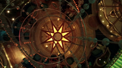 Cruise ship passenger lobby dance floor fast HD 1836 Stock Footage