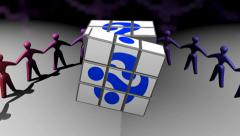 Question mark cube. Stock Footage