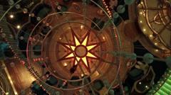 Cruise ship passenger lobby dance floor HD 1836 Stock Footage