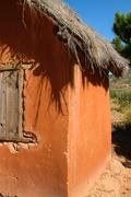 adobe house - stock photo