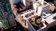 Vancouver Canada: Miniature Tilt Shift Effect Stock Footage