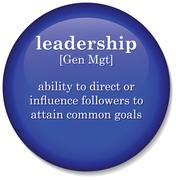 "Illustration of dictionary definition of the term ""leadership"" Stock Illustration"